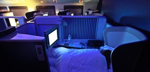 British Airways first class sleeper pod.